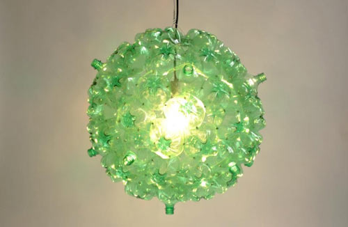 Pet Bottle Chandelier Recycled Green 1